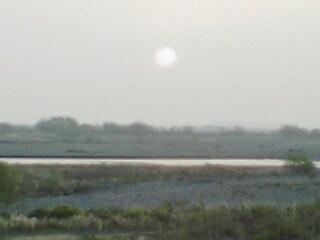 大井川の日の出